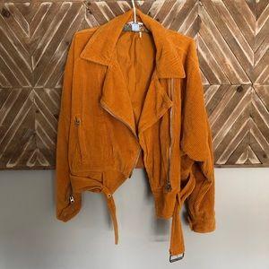 Free People Mustard Corduroy Jacket